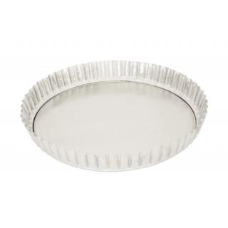forma tarte canelada fundo solto aluminio