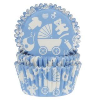 formas plissadas azul efeitos bebe