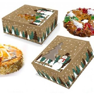 caixa cartolina natal bolos boneco neve