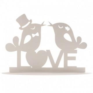 topper noivos love branco