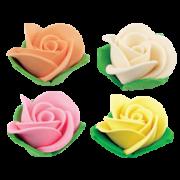 rosa com folha