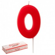vela globe vermelha 0