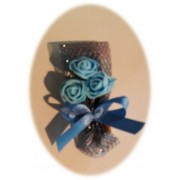 decoração ramos canela azuis