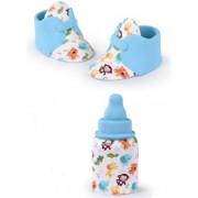 biberon + sapatinhos açucar azul menino