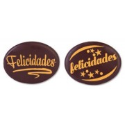 placas chocolate oval felicidades