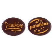 placas chocolate oval parabens