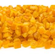 casca laranja cubos