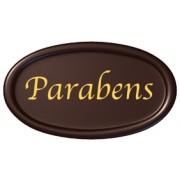 placas parabéns chocolate