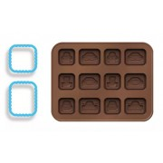 molde silicone chocolate carros