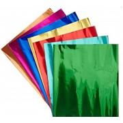 folha aluminio 18x18 mix cores sortidas