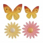 flores borboletas obreia bolos