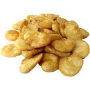 favas fritas com sal