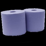 rolos papel industrial azul reciclado