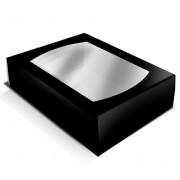 caixa cartolina preta janela