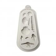 molde silicone motivos mar conchas