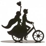 noivos silhueta bicicleta