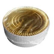 pratos dourados